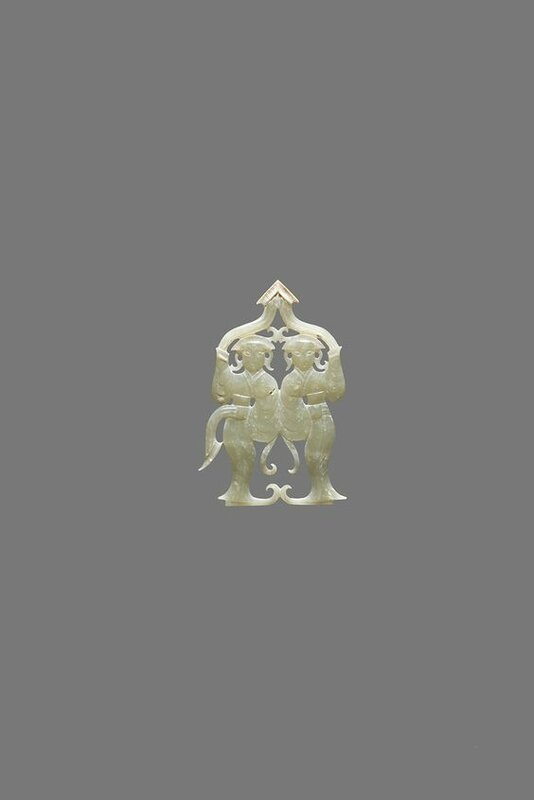 Pendant with Two Dancers, China, Han dynasty, 3rd–2nd Century BC