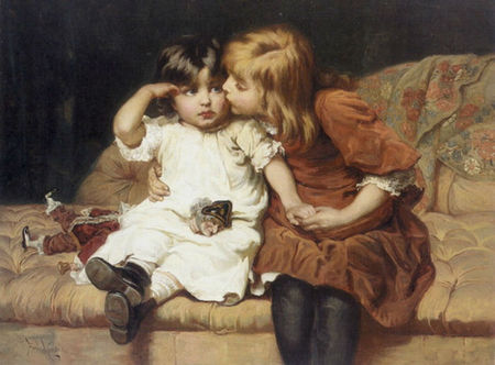 Morgan Frederick The_Consolation_Two_Girls_with_Broken_Doll_