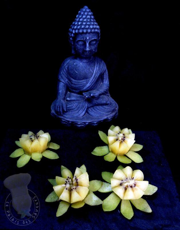 Fleur de lotus en kiwi gold
