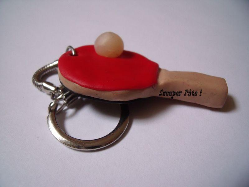 Porte Clé Raquette de Ping Pong