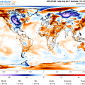 Global temperature anomaly for Jan 30, 2019