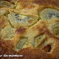Clafouti abricot-kiwi