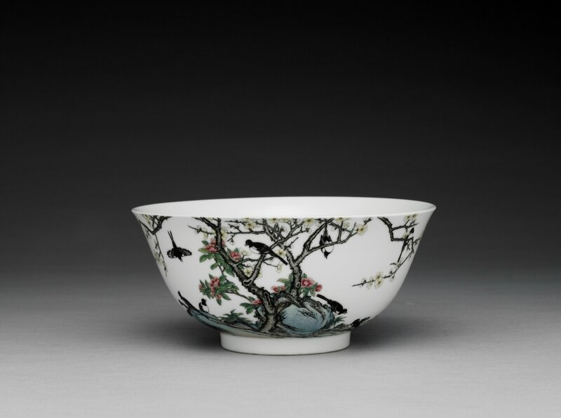 Twelve Magpies bowl, Yongzheng mark and period