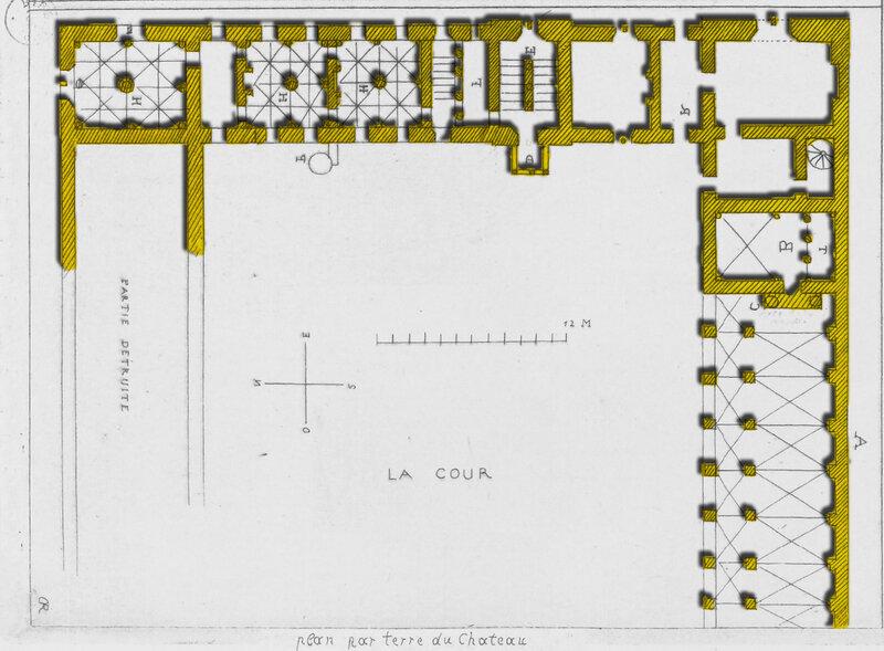 Plan Notice Historique sur le château Renaissance de Coulonges sur l'Autize du Bas- Poitou