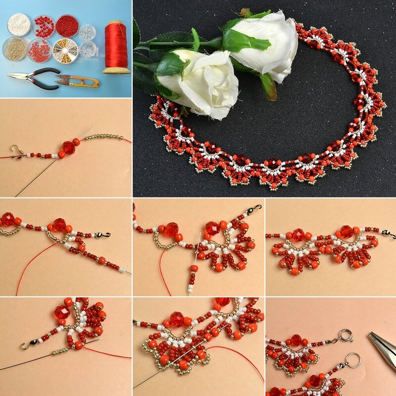 1080-How-to-Make-a-Delicate-Red-Flower-Choker-Necklace-with-Seed-Beads-and-Glass-Beads