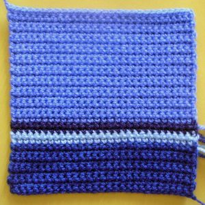 200 carrés crochet Double rayé