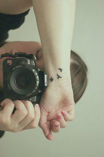 Tattoo poignet birds
