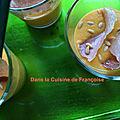 Gaspacho de melon et chips de jambon