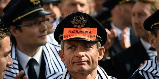 Air France, pilotes en grève,