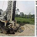 Le sol du forage d'essai des champs captants s'effondre