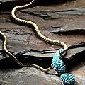 A mid 19th century gem-set serpent necklace