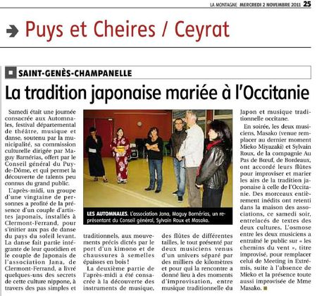 article journal montagne 02112011