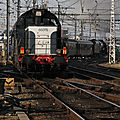 BB 66075 en queue du train spécial Bordeaux-Soulac 1900