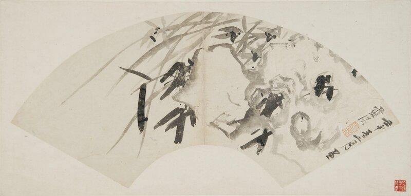 lan-ying-fan-depicting-orchids-blooming-among-rocks-late-ming-period-c-nanjing-museum
