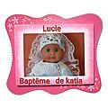Baptême de lucie chez katia