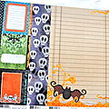 Deuxième kit le kit halloween..... 5 papers fancy