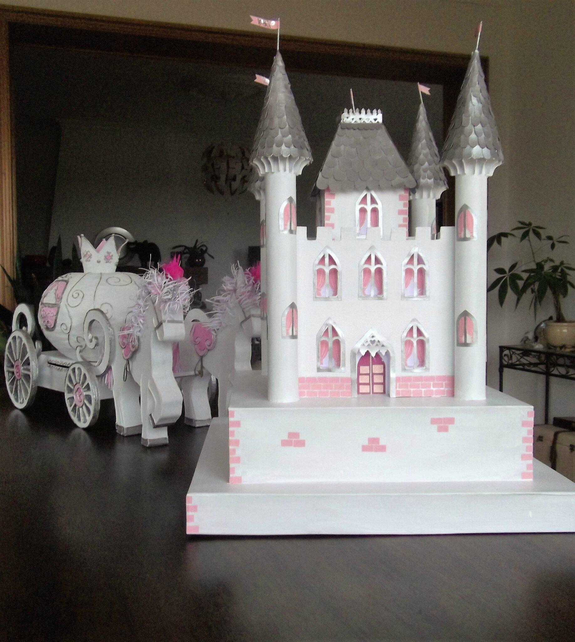urne de baptême et chateau de princesse