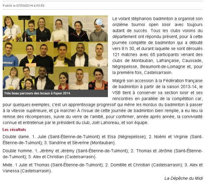 Article Depeche 07-03-2014
