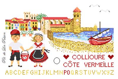 Visuel Collioure red signé