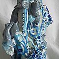 Hervé THAREL - SCHMIMBLOCK'S chatô 2013 - gouache T7 sur argile 23x14cm 3