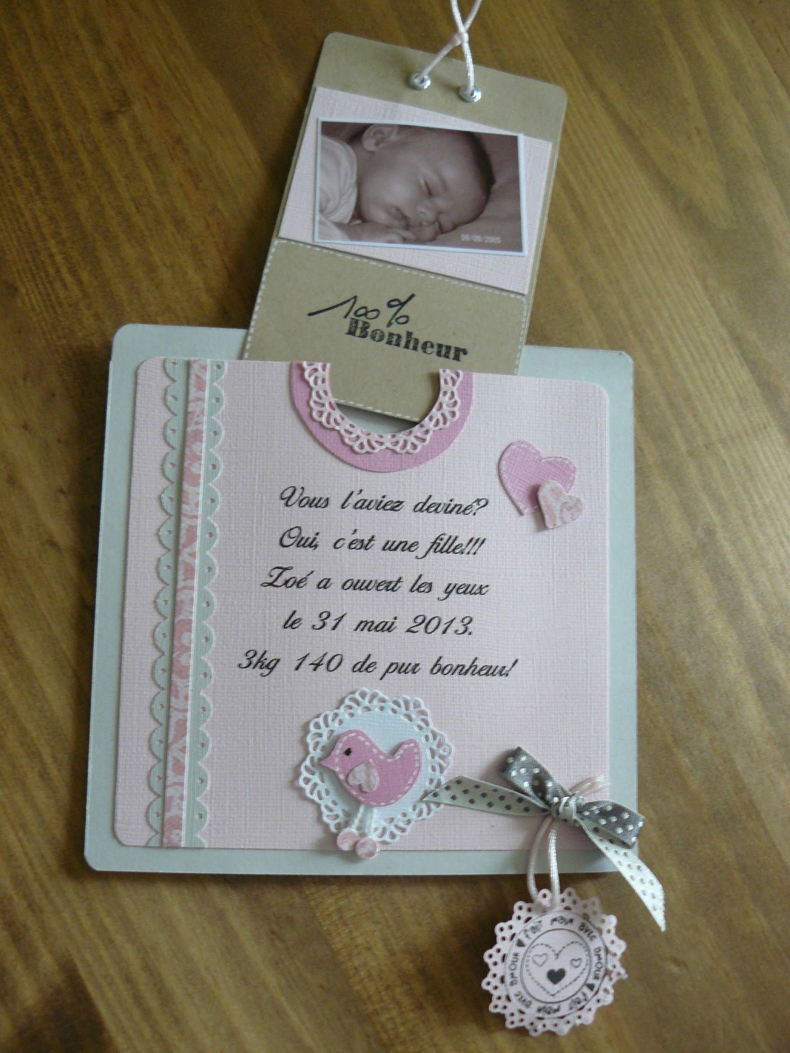 Kit faire part naissance scrapbooking