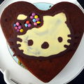 gâteau Hello Kitty en window color