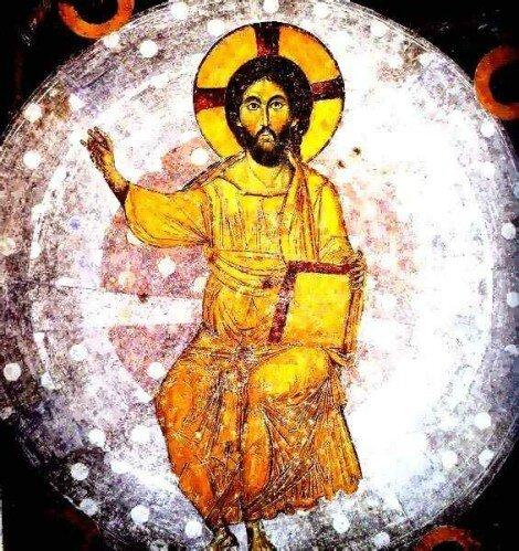 Ascension du Christ, coupole d'une église