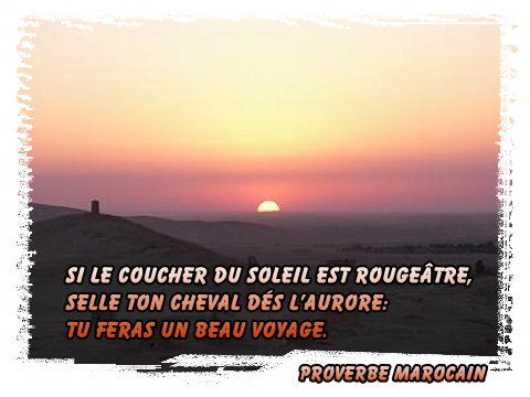 Proverbe Marocain Soleil Rougeâtre Gifs Morphings