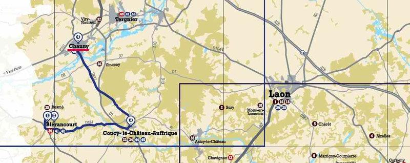 map Chauny