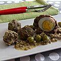 Tajine de boulettes de viande aux olives