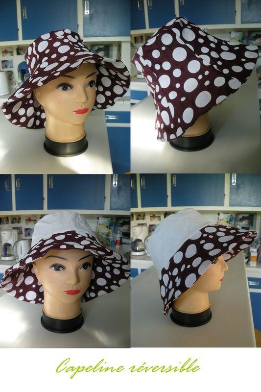 chapeau tulipe pois