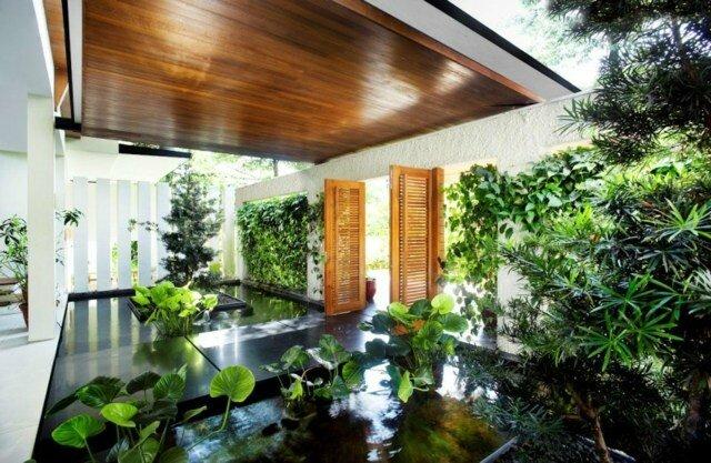 entree-maison-jardin-moderne - Photo de Photos d\'Aménagements ...
