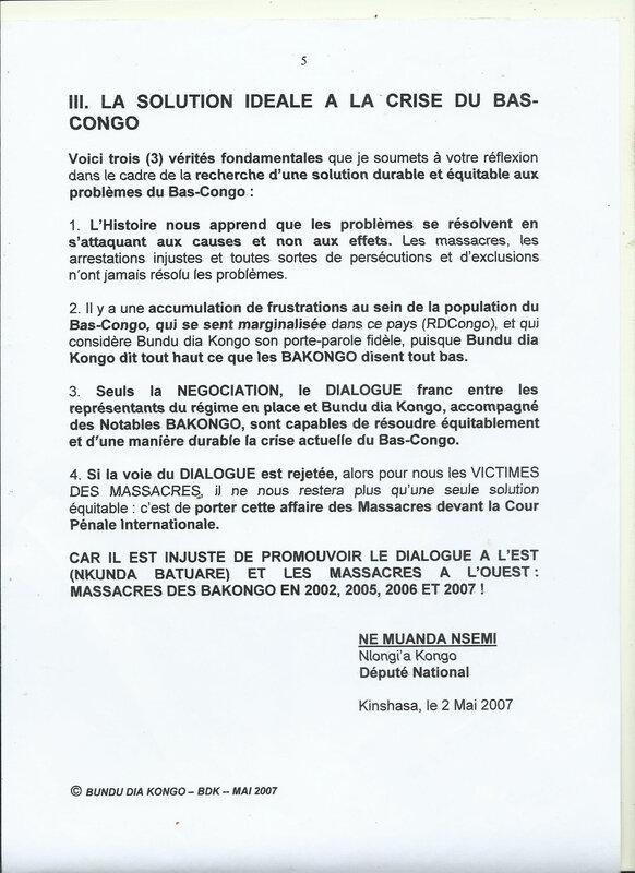 LE GENOCIDE DU PEUPLE KONGO e