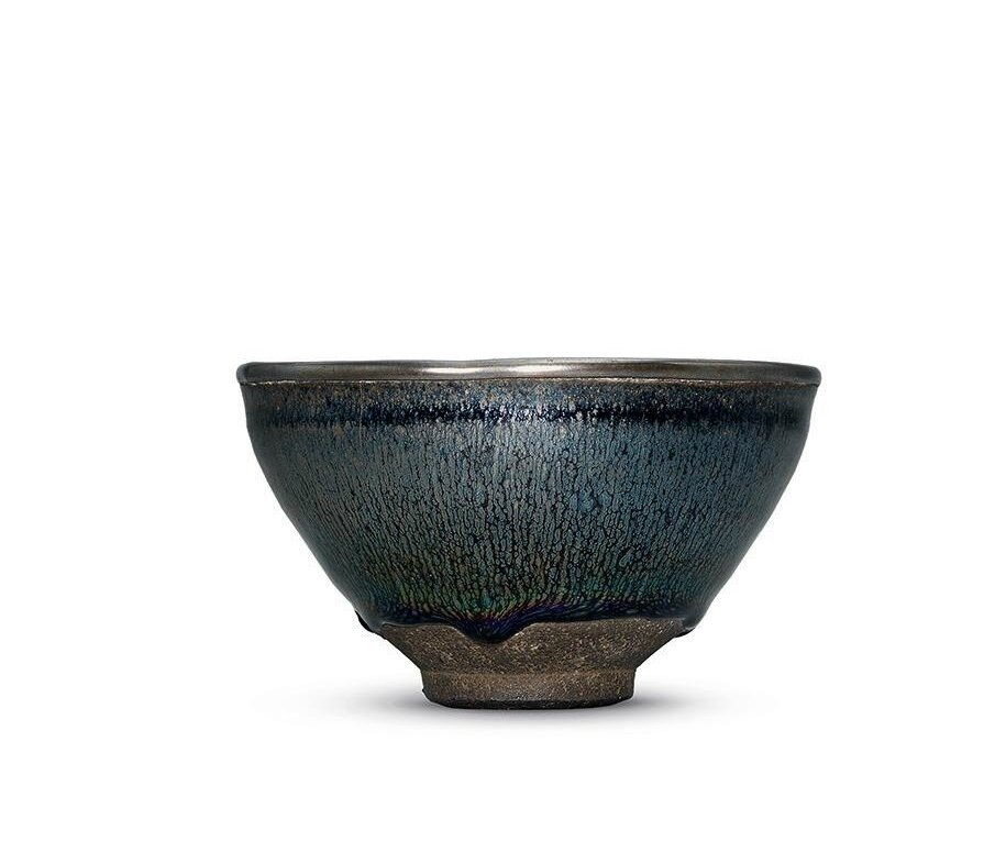 A superb 'silver hare's fur' Jian tea bowl, Southern Song dynasty (1127-1279)