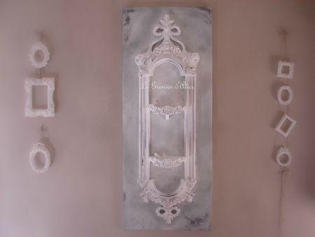 Etagère patinée shabby gris gustavien decoration de charme le grenier d'alice 2