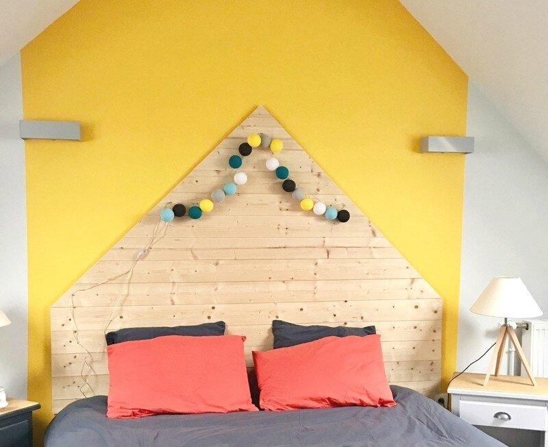 chambre jaune mur