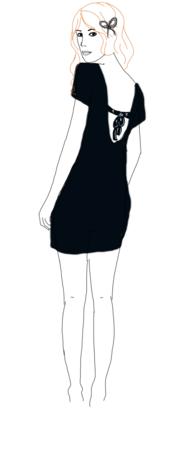 robe noeud dans le dos