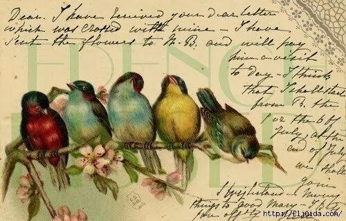 oiseau écriture ancienne
