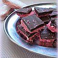Bouchées au chocolat & biscuits roses de reims