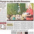 Julos beaucarne à vausse - article yonne républicaine 23 août