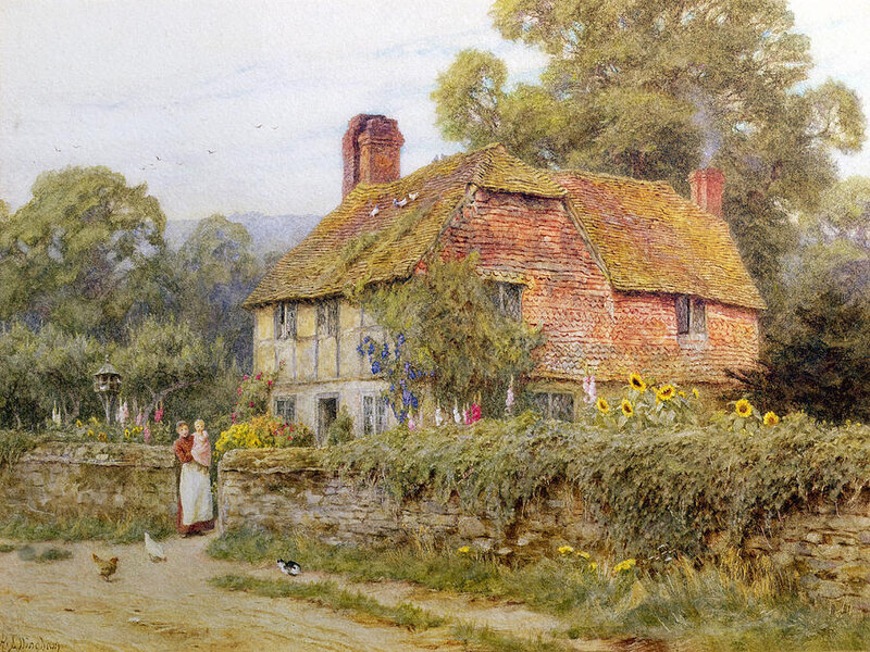 1-a-surrey-cottage-helen-allingham