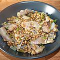 Salade de lentilles au filet de hareng fumé