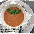 Soupe de tomates et lentilles ( 241 cal / par personne)
