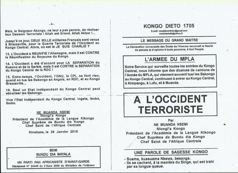 A L'OCCIDENT TERRORISTE a