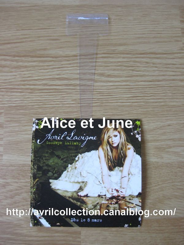 Panneau promotionnel Goodbye Lullaby-suspension (2011)