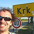Jénorme à Krk avec lunettes rayées (Croatie)