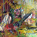 Mélodie en forêt, huile, 65 x 54.