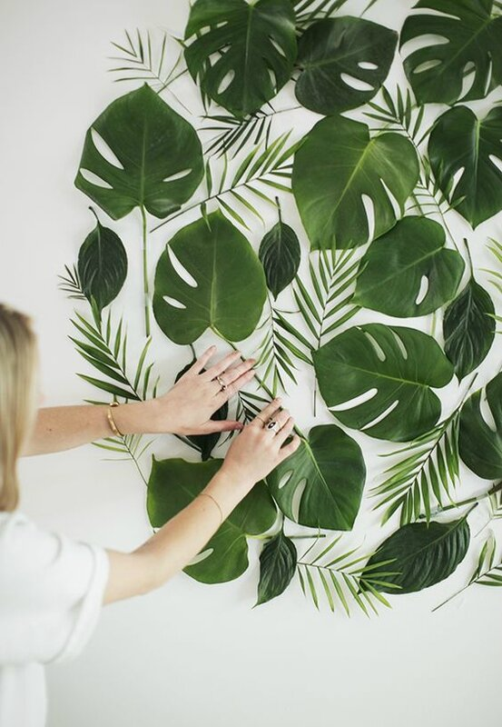 décoration murale urban jungle - source pinterest
