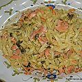 Tagliatelles au saumon sauce crémeuse à l'oseille