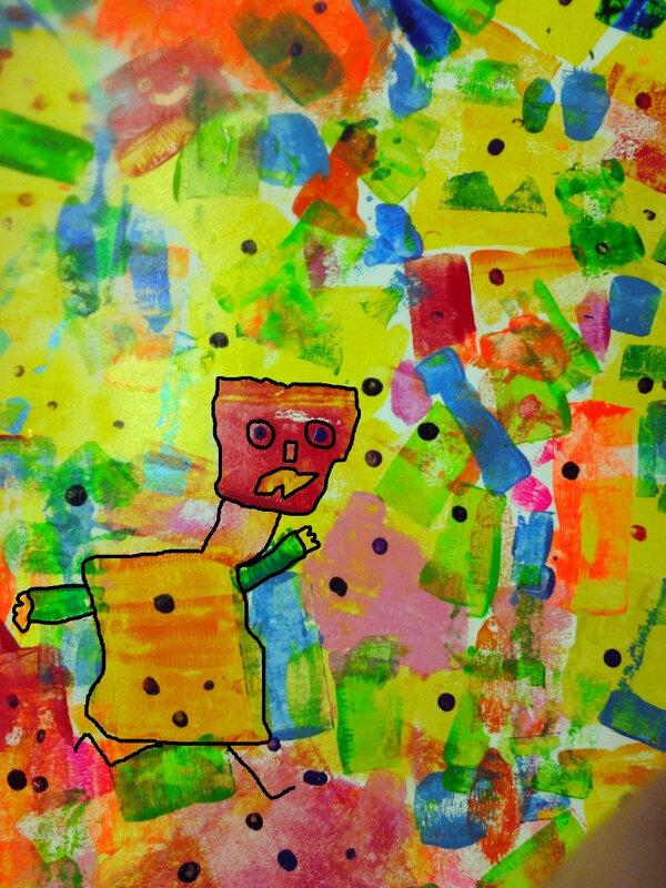 359-Personnages Animaux Monstres-Cache-cache peinture sur bois en élémentaire (233)